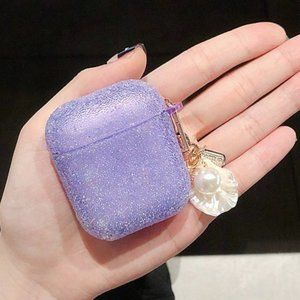 Accessories - NEW Glitter Apple Airpods 1 2 Pro Keychain case